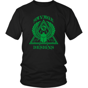 Savage Designs Eygptian Scarab Beetle T-Shirt Green- 10 Colors