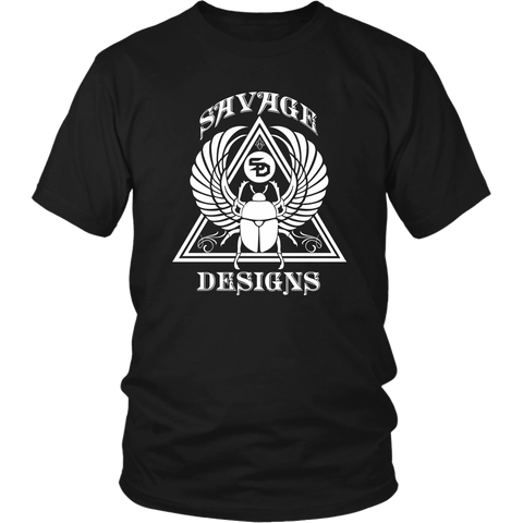 Savage Designs Eygptian Scarab Beetle T-Shirt White- 15 Colors