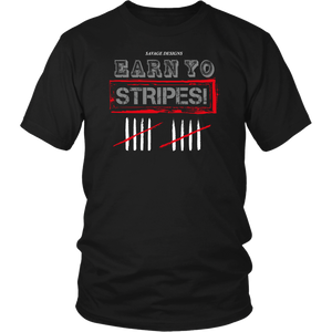 Savage Designs EARN YO STRIPES Grey/Red/White- 5 Colors