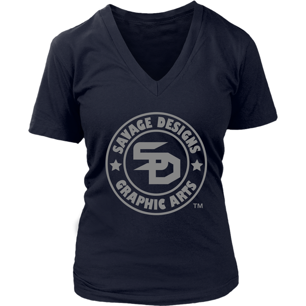 Savage Designs Original Symbol/Live Life Savage Front and Back Print V-Neck- 16 Colors