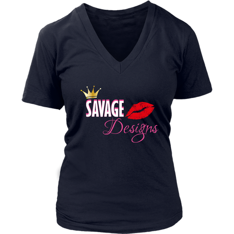 Savage Designs Lil Queen 2 V-Neck- 6 Colors