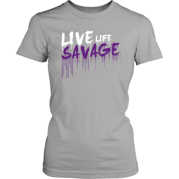 Live Life Savage Paint Drip White/Purple- 11 Colors