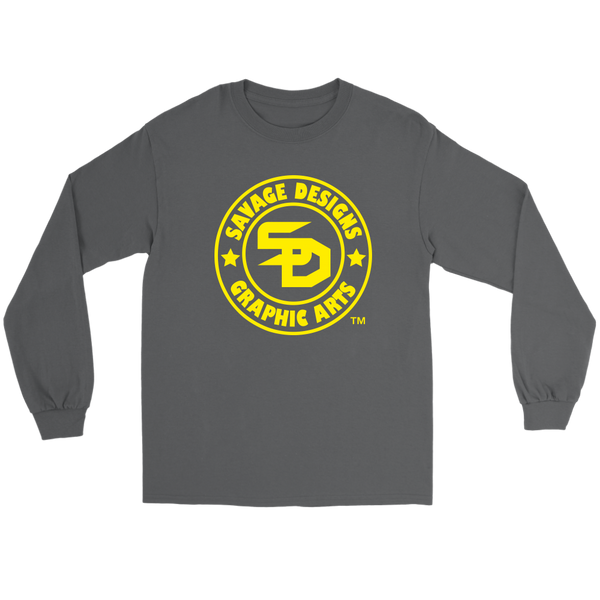 Savage Designs Original Symbol/Live Life Savage Front and Back Print Long Sleeve- 9 Colors
