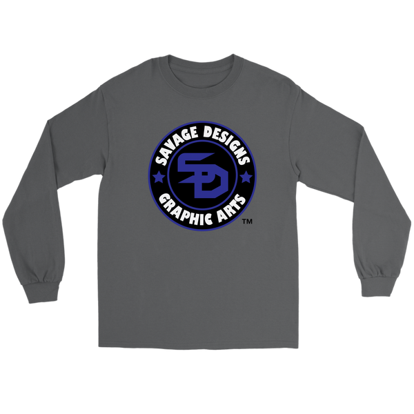 Savage Designs Symbol Patch Royal Blue/Black/White Long Sleeve- 7 Colors