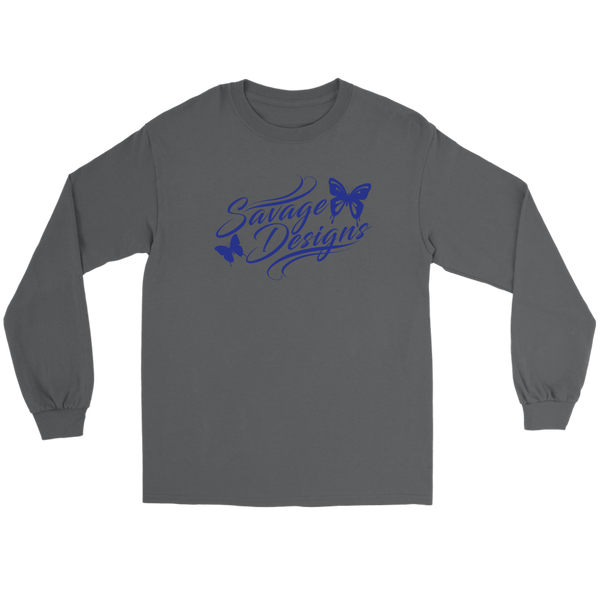 Savage Designs Butterfly Elegance Royal Blue Long Sleeve- 8 Colors