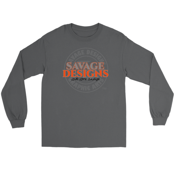 Savage Designs Faded Symbol Grey/Orange/Black Long Sleeve- 7 Colors