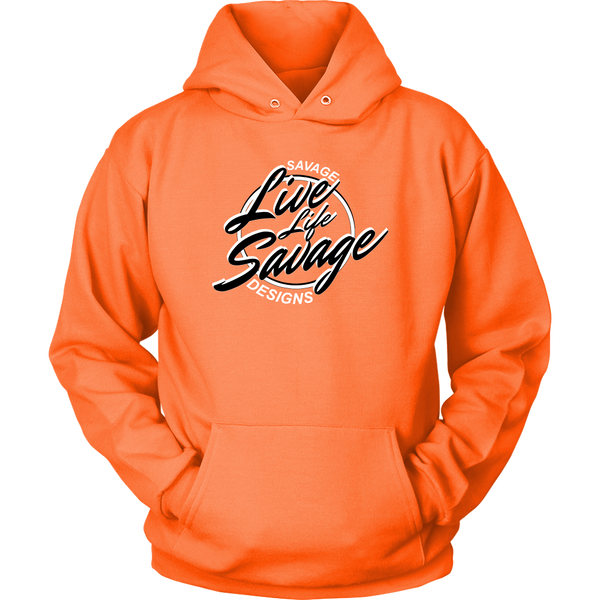 Savage Designs Live Life Savage Calligraphy Black/White Hoodie- 8 Colors