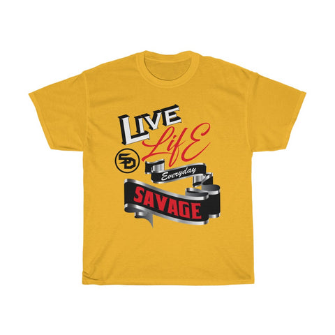 Live Life Everyday Savage White/Black/Red/Silver- 1 Color