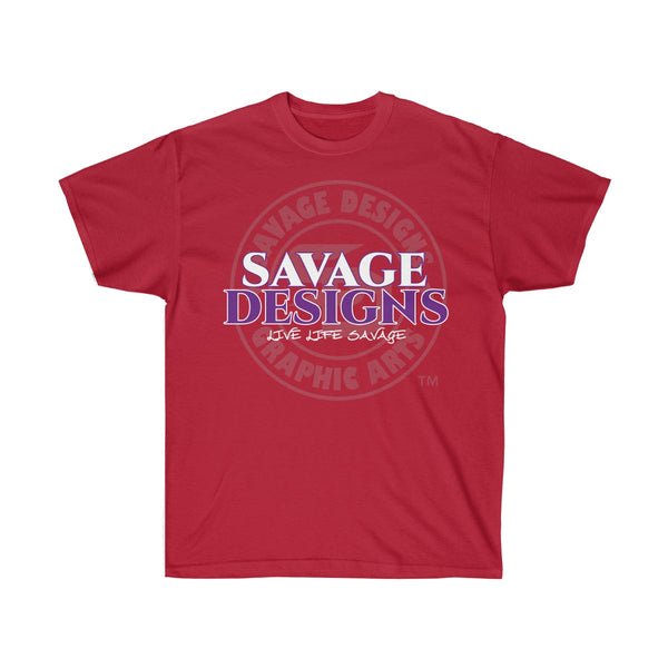 Savage Designs Faded Symbol White/Purple/Grey- 3 Colors