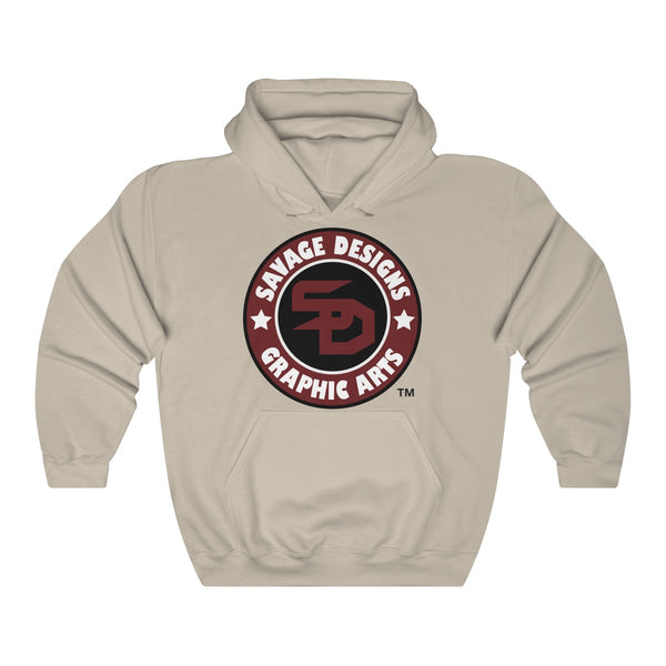 Savage Designs Symbol Patch Burgundy/Black/White Sweatshirt- 4 Colors