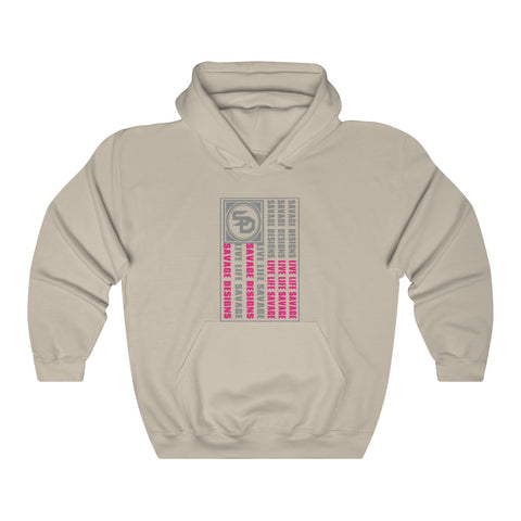 Savage Designs Flag Grey/Hot Pink Hoodie- 4 Colors