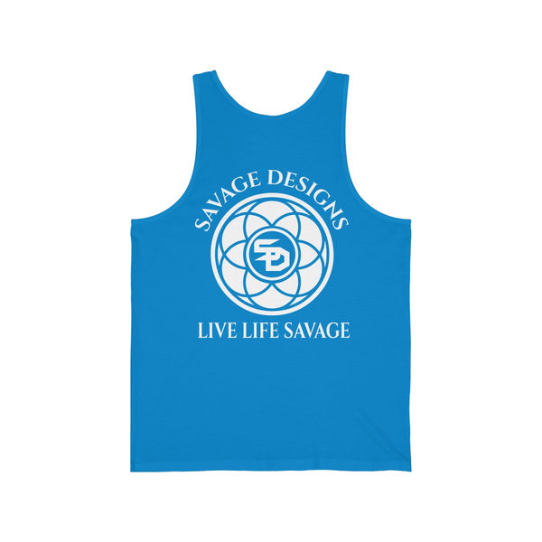Savage Designs Egyptian Seed of Life White Tank Top- 11 Colors