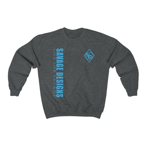 Savage Designs Triple Threat Turquoise Sweatshirt- 11 Colors