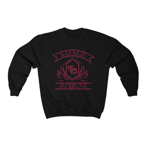 Savage Designs Diamond Floral Maroon Sweatshirt- 2 Colors
