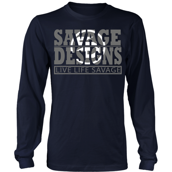 The Savage Within Grey/White Long Sleeve- 6 Colors