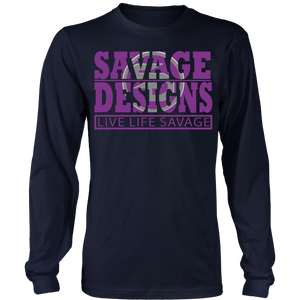 The Savage Within Purple/Grey Long Sleeve- 4 Colors