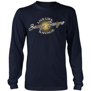 Savage Designs Sunray Flare Royal Blue and Gold Long Sleeve- 8 Colors