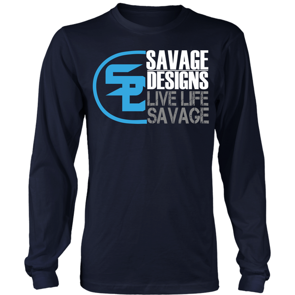 Savage Designs Sliced Up Turquoise/White/Grey Long Sleeve- 9 Colors