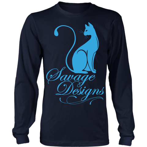 Savage Designs Lady Kitten Turquoise Long Sleeve- 8 Colors