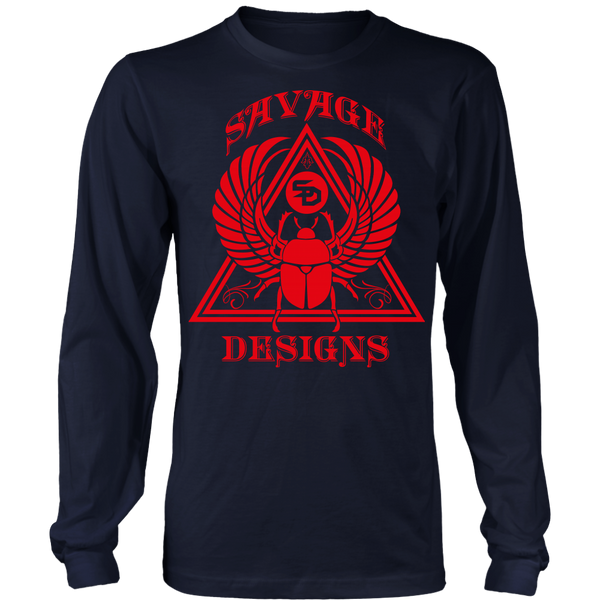 Savage Designs Eygptian Scarab Bettle Red Long Sleeve- 6 Colors