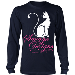 Savage Designs Lady Kitten White/Pink Long Sleeve- 6 Colors