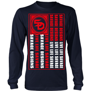 Savage Designs Flag Red/White Long Sleeve- 8 Colors