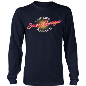 Savage Designs Sunray Flare Hot Pink and Gold Long Sleeve- 8 Colors