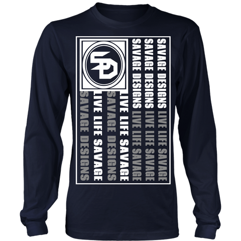 Savage Designs Flag White/Grey Long Sleeve- 8 Colors