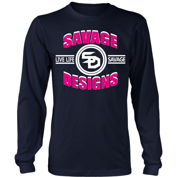 Savage Designs Dead Focus Hot Pink/White Long Sleeve- 10 Colors