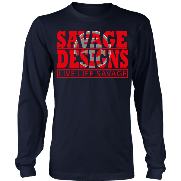 The Savage Within Red/Grey Long Sleeve- 6 Colors