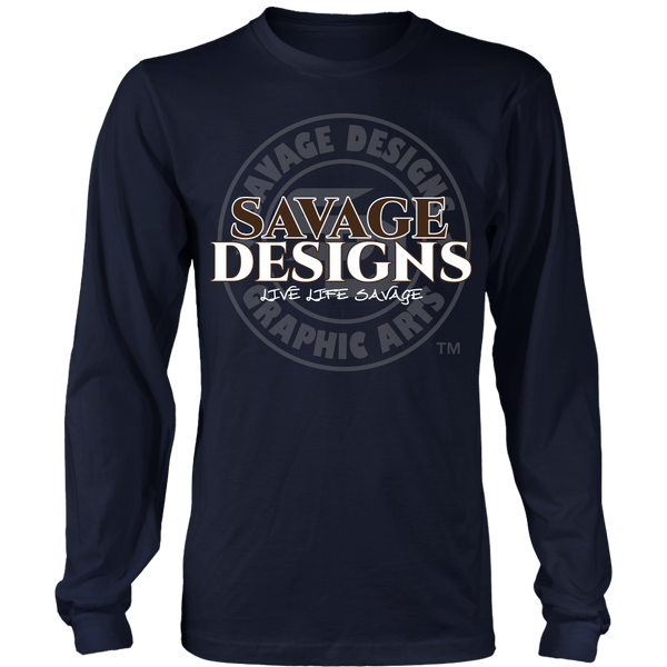 Savage Designs Faded Symbol Brown/White/Grey Long Sleeve- 9 Colors