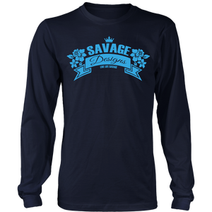 Savage Designs Royal Blossom Turquoise Long Sleeve- 7 Colors