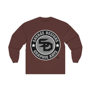 Savage Designs Symbol Patch Black/Grey/White Long Sleeve- 2 Colors
