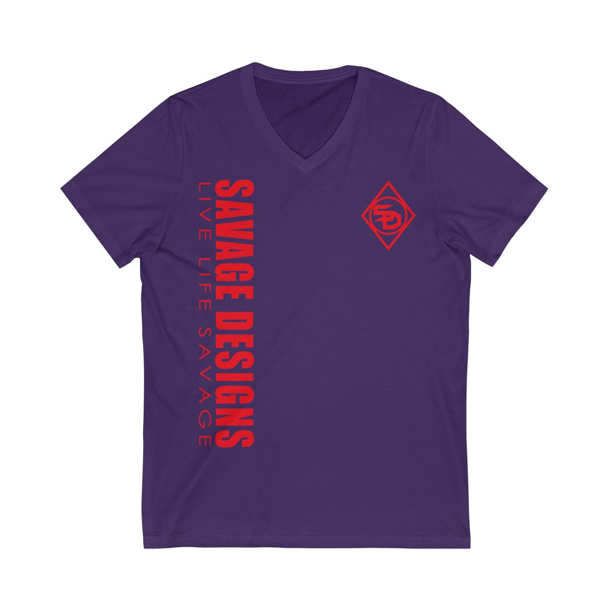 Savage Designs Triple Threat Red V-Neck- 5 Colors