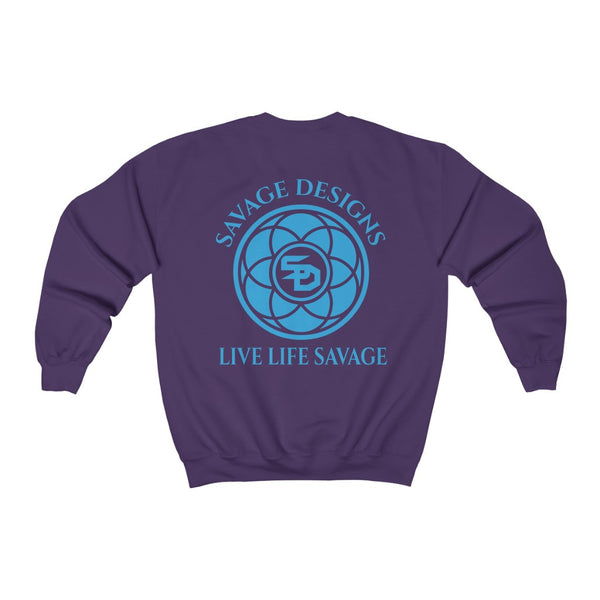 Savage Designs Egyptian Seed of Life Turquoise Sweatshirt- 9 Colors