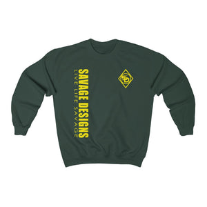Savage Designs Triple Threat Yellow Sweatshirt- 11 Colors