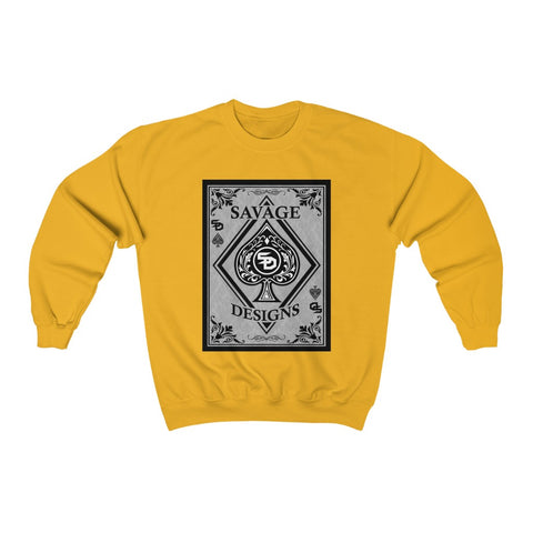 Savage Designs Ace of Spade Black/Grey Sweatshirt- 3 Colors