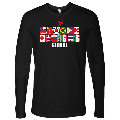 Savage Designs Global Long Sleeve Text Only
