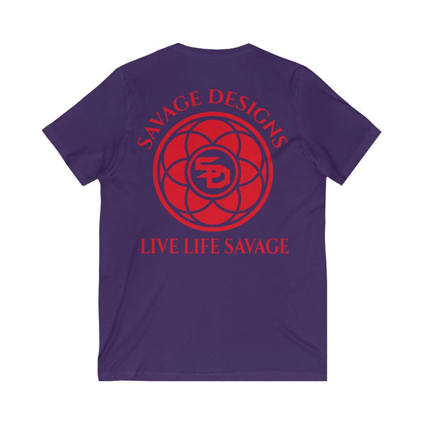 Savage Designs Egyptian Seed of Life Red V-Neck- 6 Colors