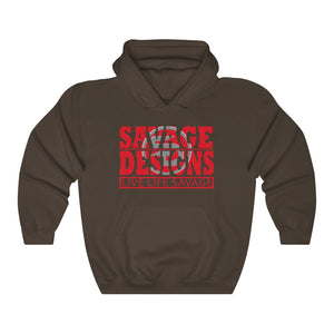 The Savage Within Red/Grey Hoodie- 3 Colors