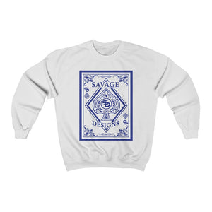 Savage Designs Ace of Spade Royal Blue Sweatshirt- 4 Colors