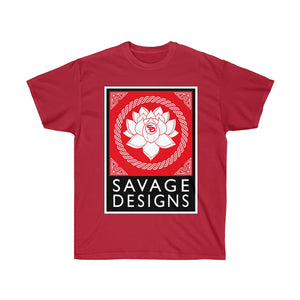 Savage Designs Lotus Flower Red/White/Black- 3 Colors
