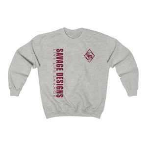 Savage Designs Triple Threat Maroon Sweatshirt- 8 Colors
