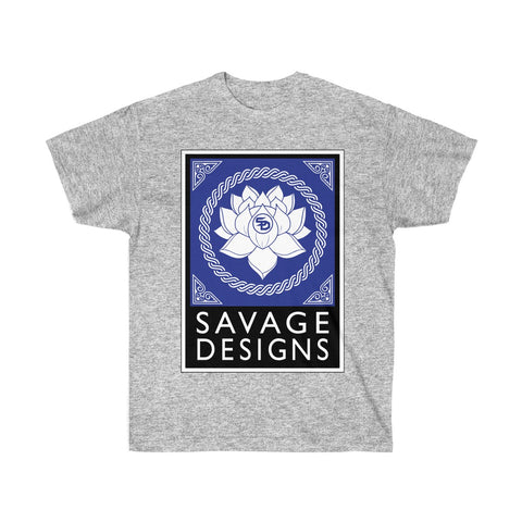 Savage Designs Lotus Flower Royal Blue/White/Black- 3 Colors