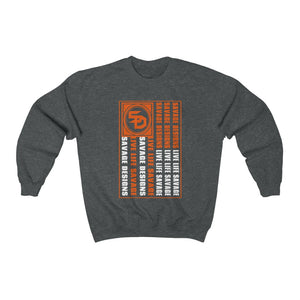 Savage Designs Flag Orange/White Sweatshirt- 3 Colors