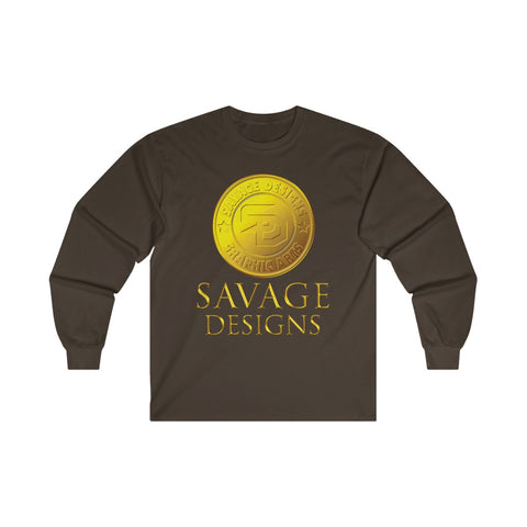 Savage Designs Gold Coin Medallion Long Sleeve- 3 Colors