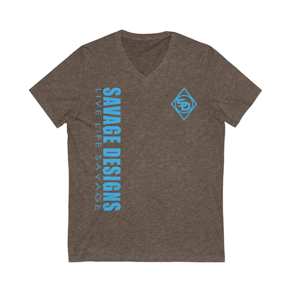 Savage Designs Triple Threat Turquoise V-Neck- 10 Colors