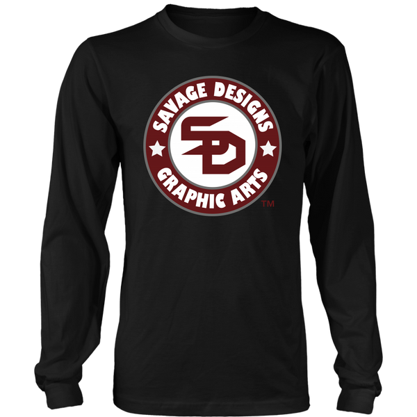 Savage Desihns Symbol Patch Burgundy/White/Grey Long Sleeve- 3 Colors