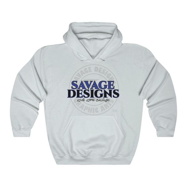 Savage Designs Faded Symbol Royal Blue/Black/Grey Hoodie- 4 Colors