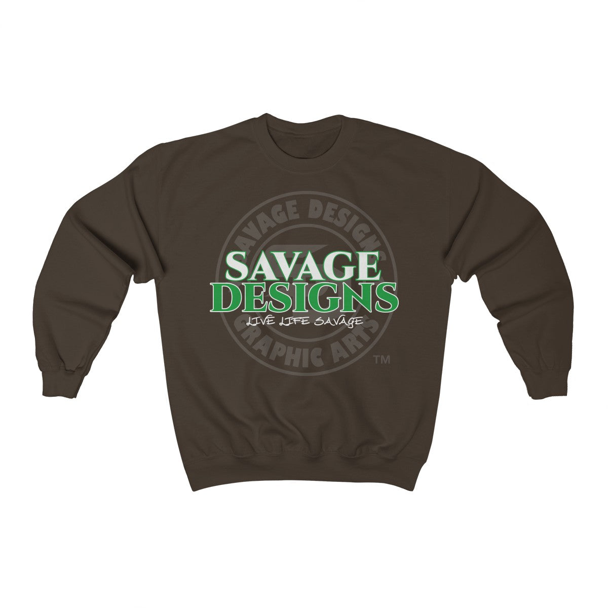 Savage Designs Faded Symbol White/Green/Grey Sweatshirt- 7 Colors